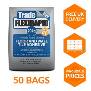 Trade Flexirapid Grey Pallet of Adhesive at Trade Monkey